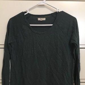 Madewell long sleeve shirt. Forest green. SMALL